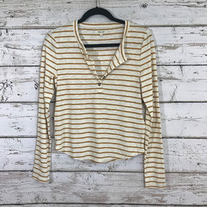 Madewell golden rod striped Long Sleeve Top